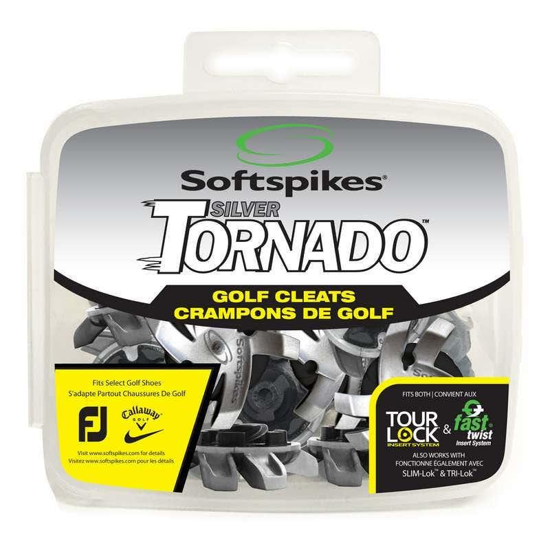 Soft Spikes Silver Tornado Golf Spikes